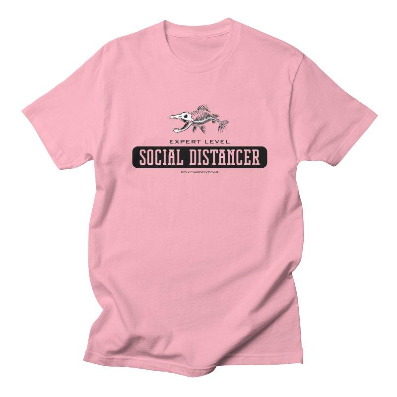 Expert Level Social Distancer Men's Regular T-Shirt by Boneyard Studio - Boneyard Fly Gear