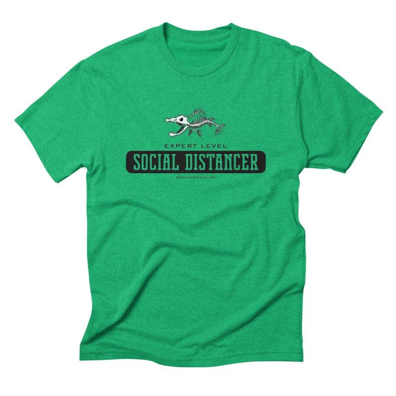 Expert Level Social Distancer Men's Triblend T-Shirt by Boneyard Studio - Boneyard Fly Gear