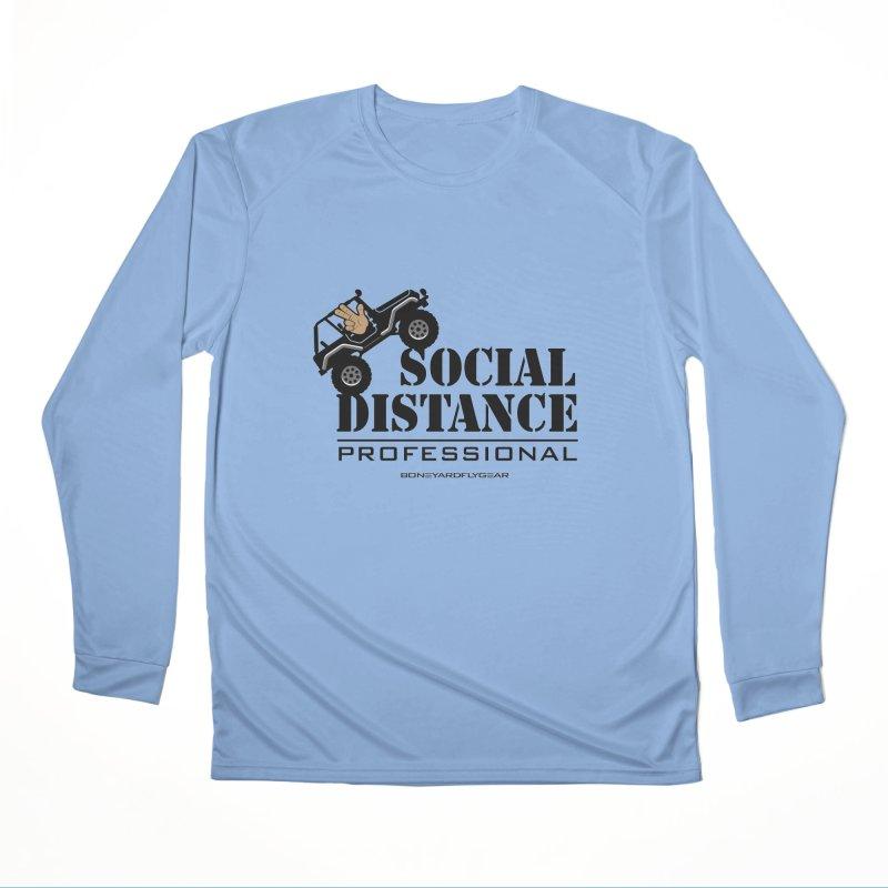 Off Road Social Distancing Men's Performance Longsleeve T-Shirt by Boneyard Studio - Boneyard Fly Gear