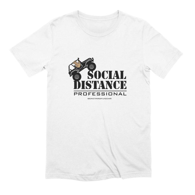 Off Road Social Distancing Men's Extra Soft T-Shirt by Boneyard Studio - Boneyard Fly Gear