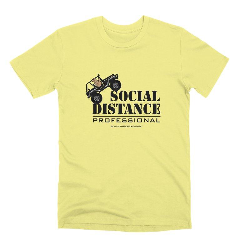 Off Road Social Distancing Men's Premium T-Shirt by Boneyard Studio - Boneyard Fly Gear
