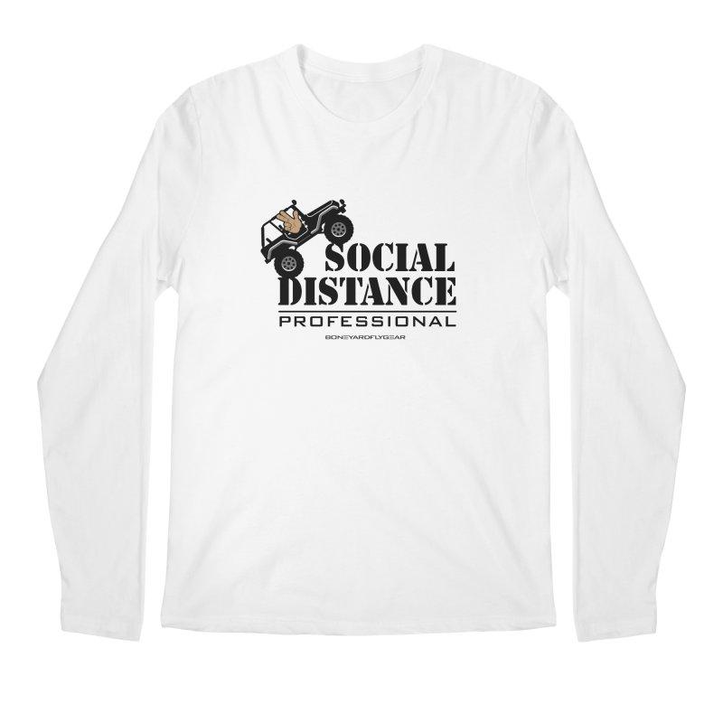 Off Road Social Distancing Men's Regular Longsleeve T-Shirt by Boneyard Studio - Boneyard Fly Gear