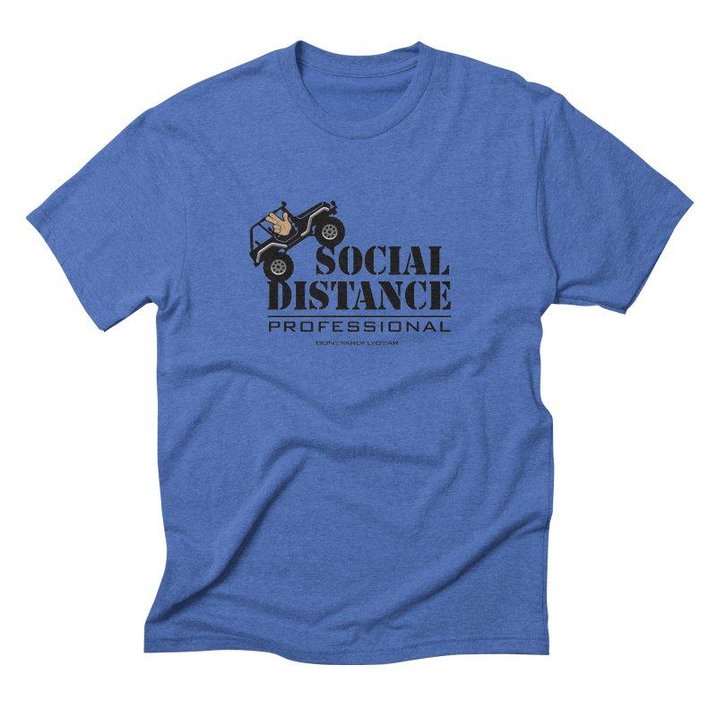 Off Road Social Distancing Men's Triblend T-Shirt by Boneyard Studio - Boneyard Fly Gear