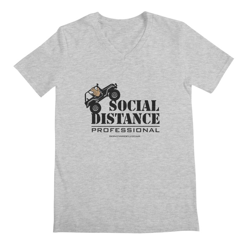 Off Road Social Distancing Men's Regular V-Neck by Boneyard Studio - Boneyard Fly Gear