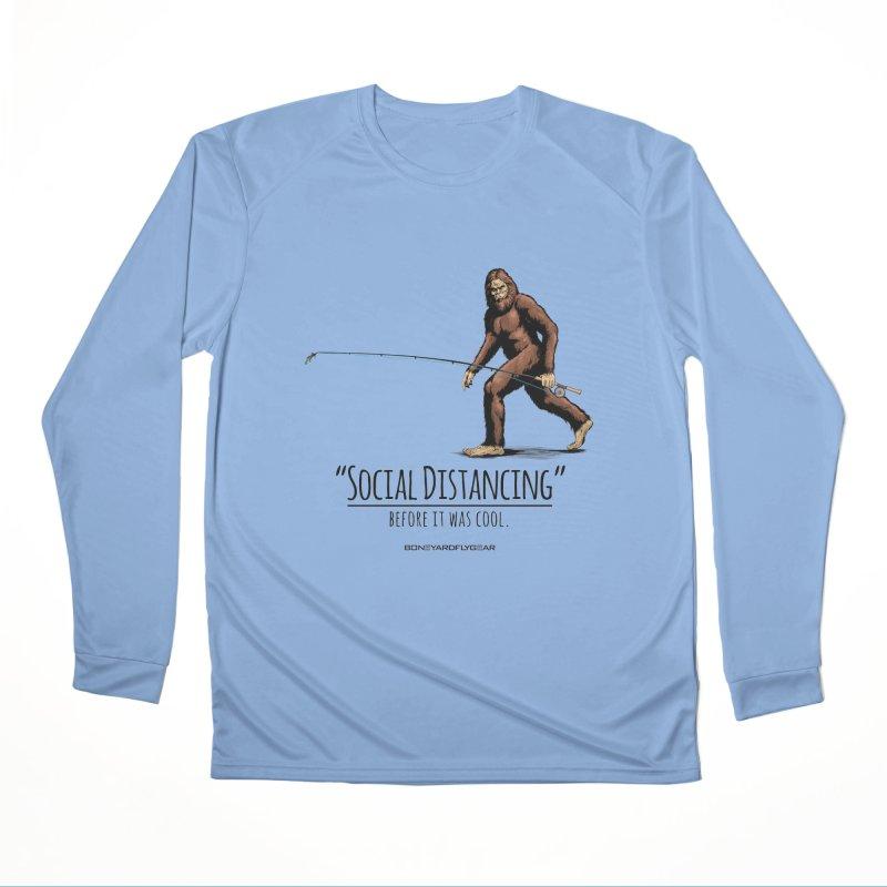 Social Distancing before it was cool. Men's Performance Longsleeve T-Shirt by Boneyard Studio - Boneyard Fly Gear