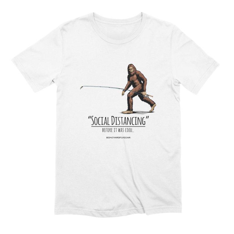 Social Distancing before it was cool. Men's Extra Soft T-Shirt by Boneyard Studio - Boneyard Fly Gear