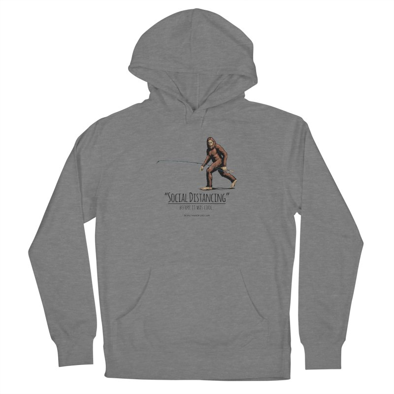 Social Distancing before it was cool. Men's French Terry Pullover Hoody by Boneyard Studio - Boneyard Fly Gear