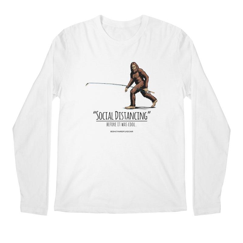 Social Distancing before it was cool. Men's Regular Longsleeve T-Shirt by Boneyard Studio - Boneyard Fly Gear