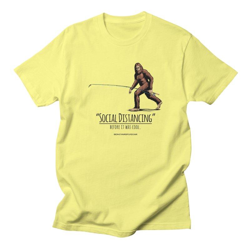 Social Distancing before it was cool. Men's Regular T-Shirt by Boneyard Studio - Boneyard Fly Gear