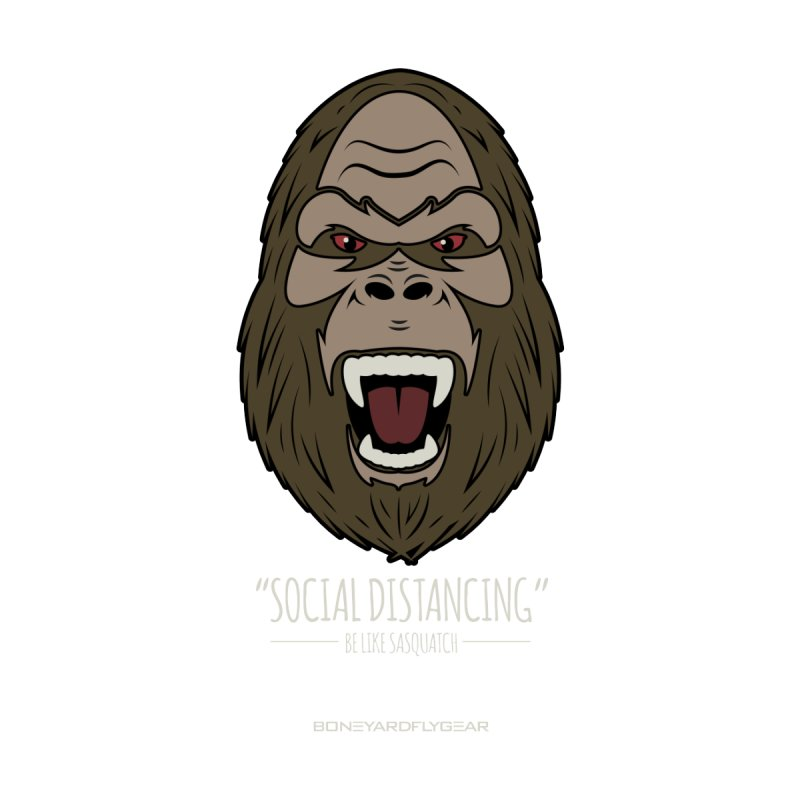"Be like Sasquatch ""Social Distancing"" Men's Longsleeve T-Shirt by Boneyard Studio - Boneyard Fly Gear"