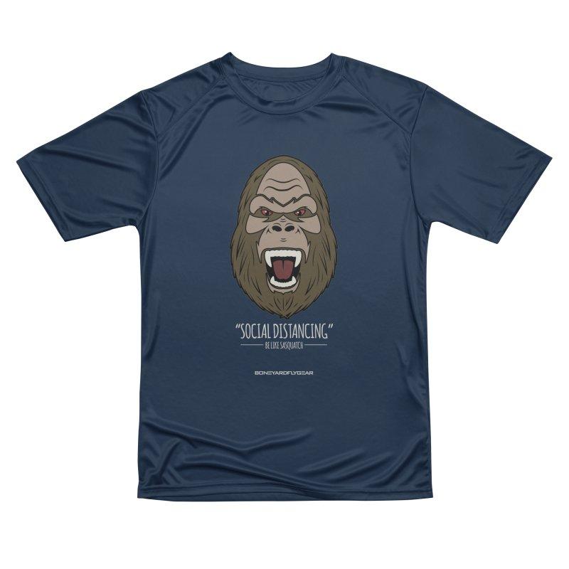 "Be like Sasquatch ""Social Distancing"" Men's Performance T-Shirt by Boneyard Studio - Boneyard Fly Gear"