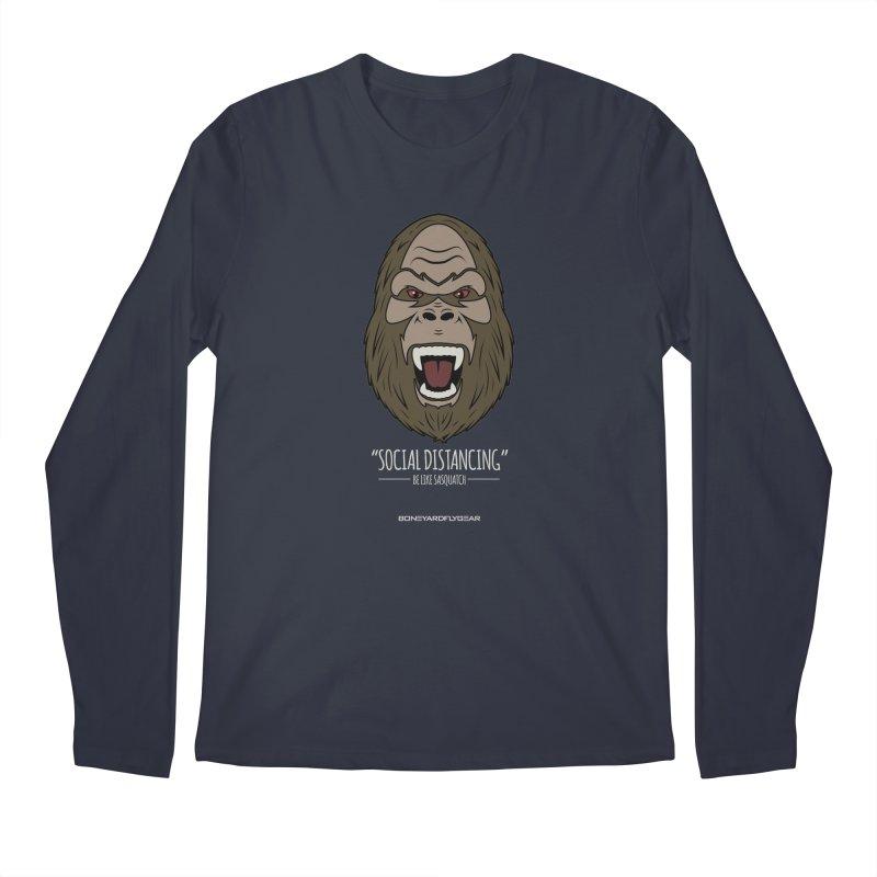 "Be like Sasquatch ""Social Distancing"" Men's Regular Longsleeve T-Shirt by Boneyard Studio - Boneyard Fly Gear"