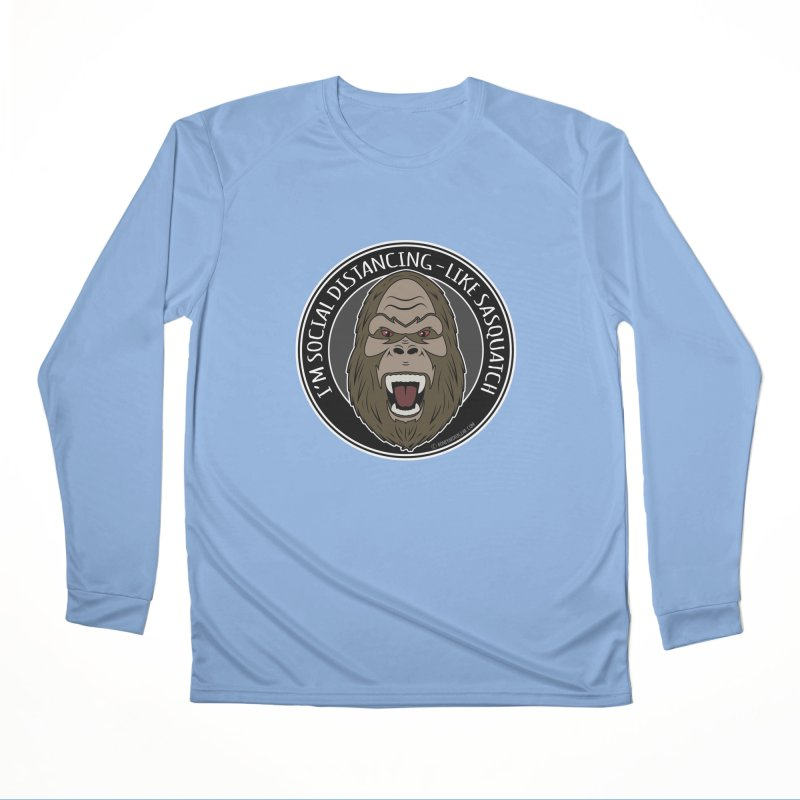 Sasquatch Social Distancing Men's Longsleeve T-Shirt by Boneyard Studio - Boneyard Fly Gear