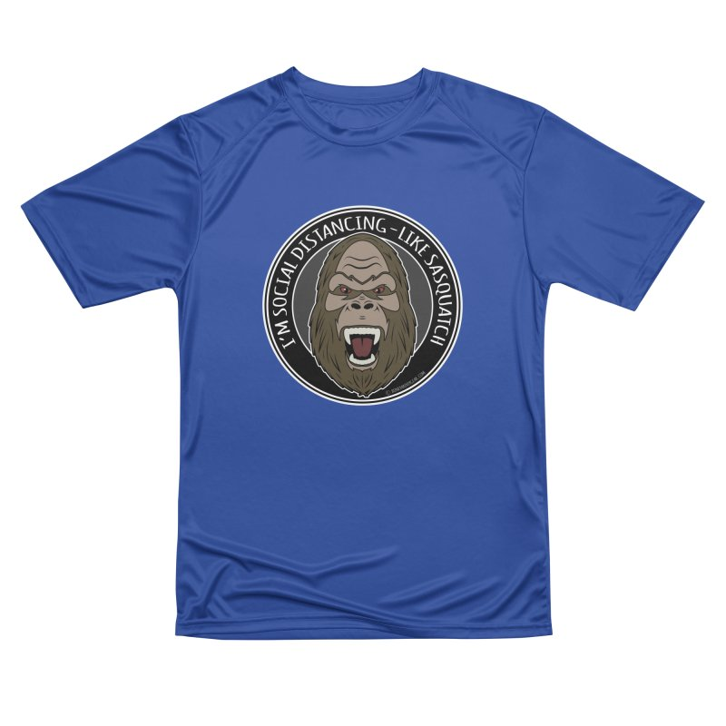 Sasquatch Social Distancing Men's Performance T-Shirt by Boneyard Studio - Boneyard Fly Gear