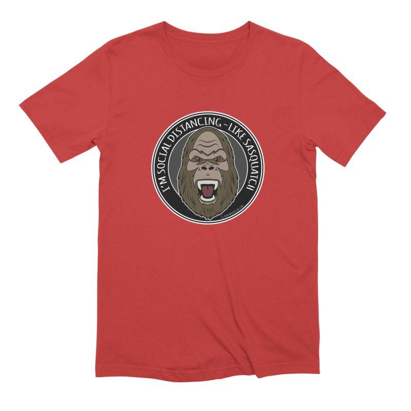 Sasquatch Social Distancing Men's Extra Soft T-Shirt by Boneyard Studio - Boneyard Fly Gear