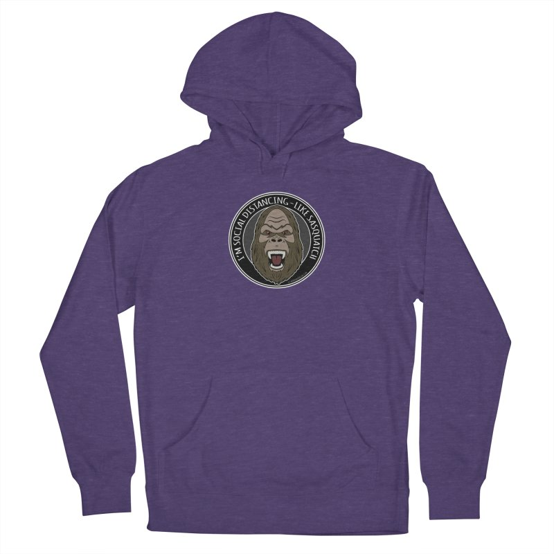 Sasquatch Social Distancing Men's French Terry Pullover Hoody by Boneyard Studio - Boneyard Fly Gear