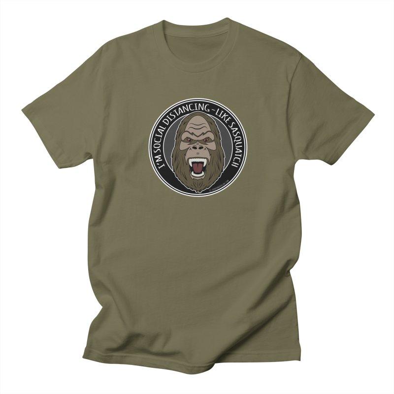 Sasquatch Social Distancing Men's Regular T-Shirt by Boneyard Studio - Boneyard Fly Gear