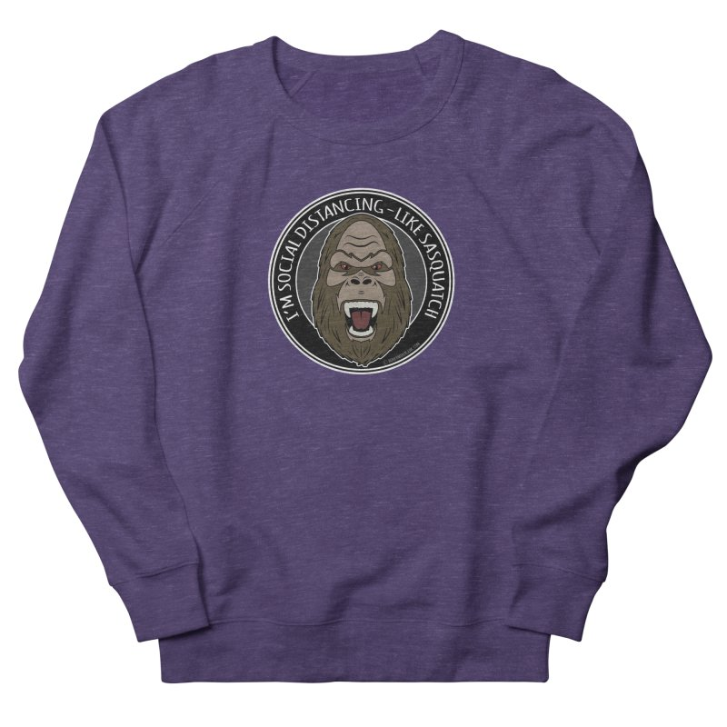 Sasquatch Social Distancing Men's French Terry Sweatshirt by Boneyard Studio - Boneyard Fly Gear