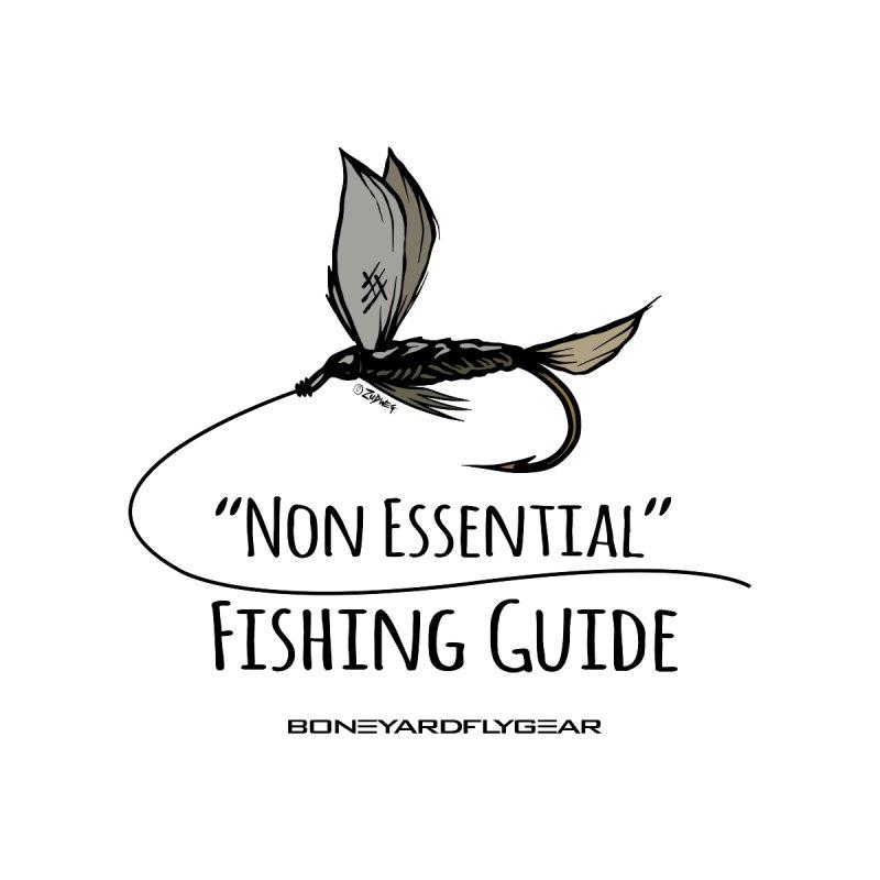 Non Essential Fishing Guide Men's T-Shirt by Boneyard Studio - Boneyard Fly Gear