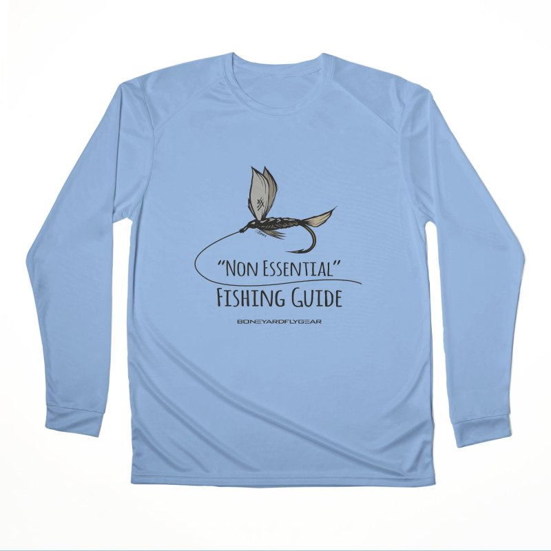 Non Essential Fishing Guide Men's Performance Longsleeve T-Shirt by Boneyard Studio - Boneyard Fly Gear