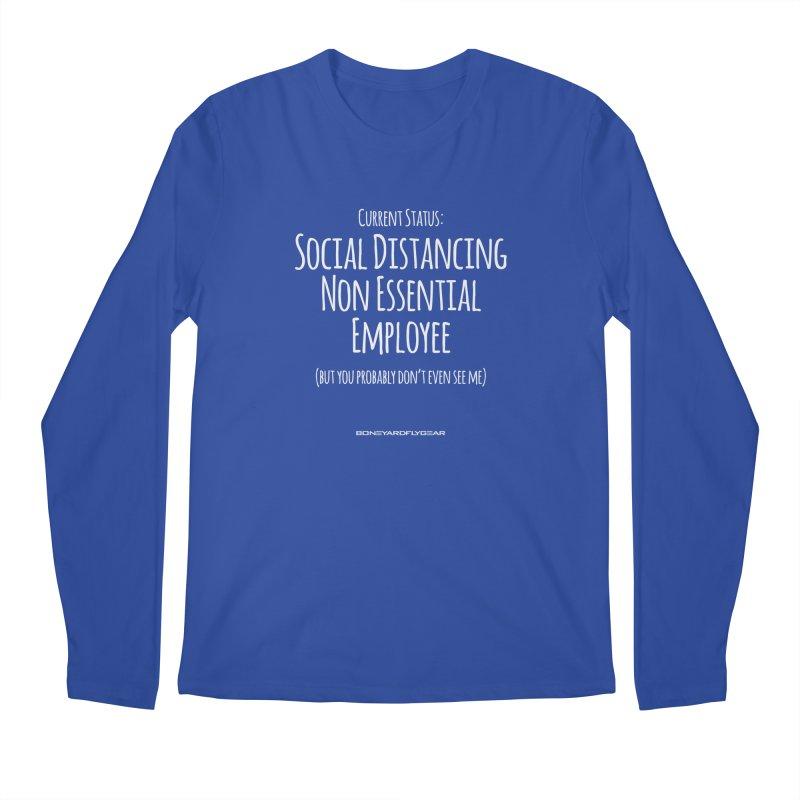 Social Distancing Non Essential Employee Men's Regular Longsleeve T-Shirt by Boneyard Studio - Boneyard Fly Gear