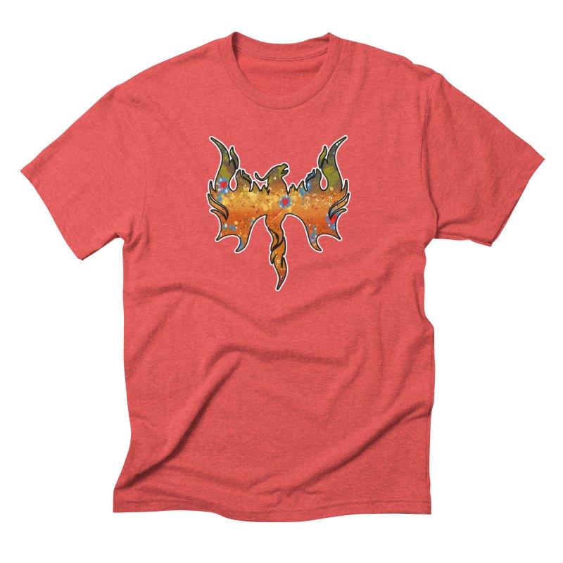 Fire Bird Brook Trout Men's Triblend T-Shirt by Boneyard Studio - Boneyard Fly Gear