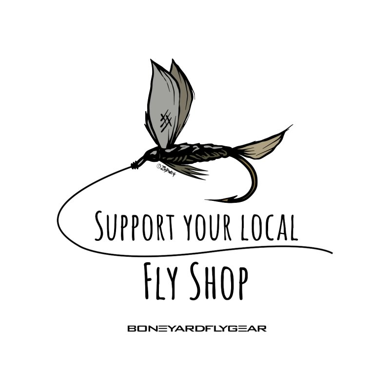 Support your local Fly Shop - 100% of the profit goes to the shop of your choice Men's T-Shirt by Boneyard Studio - Boneyard Fly Gear