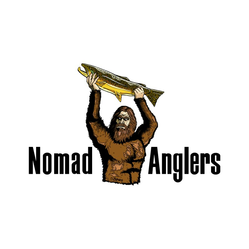 Nomad Squatch (Limited edition) 100% of the profit goes to help Nomad Anglers/Grand Rapids, MI Men's T-Shirt by Boneyard Studio - Boneyard Fly Gear