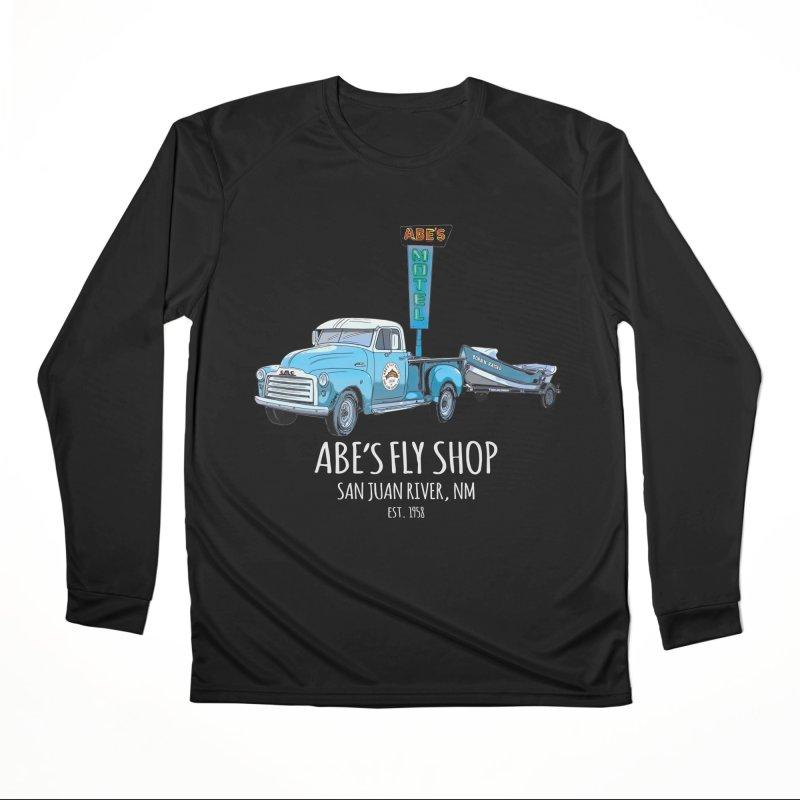 Abes Fly Shop Adventure Rig 2 - White lettering Men's Longsleeve T-Shirt by Boneyard Studio - Boneyard Fly Gear