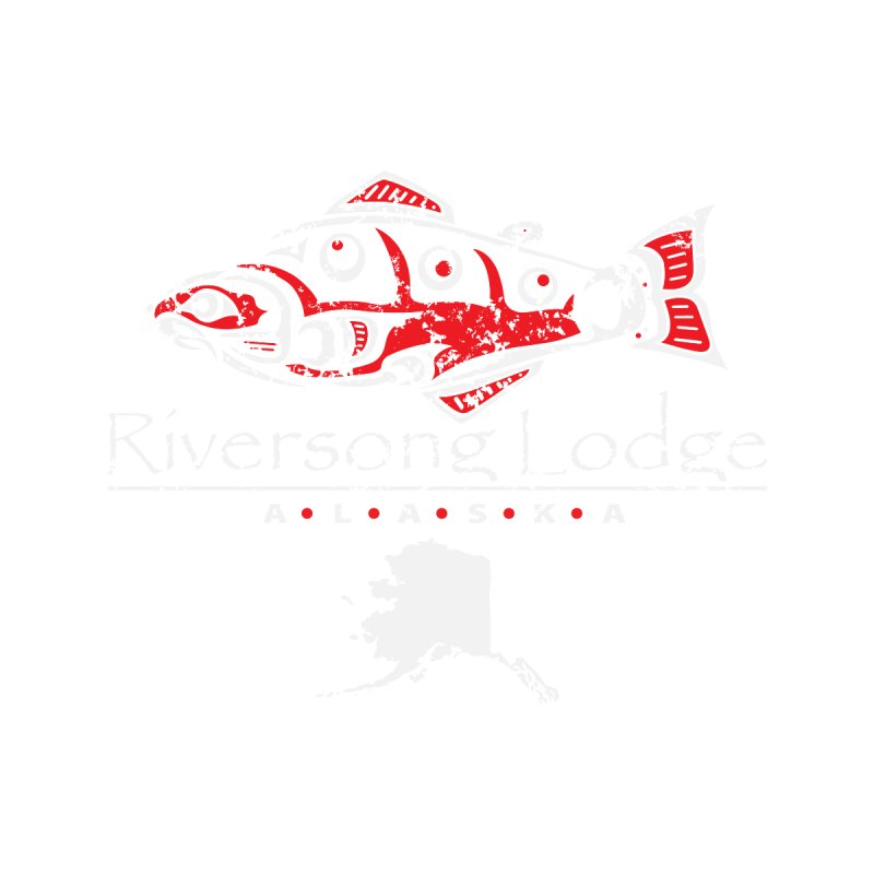 Riversong Lodge logo - white Women's Sweatshirt by Boneyard Studio - Boneyard Fly Gear