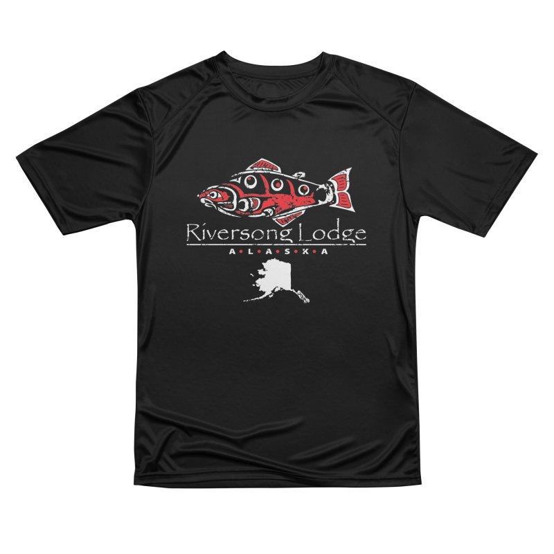 Riversong Lodge logo - white Women's T-Shirt by Boneyard Studio - Boneyard Fly Gear