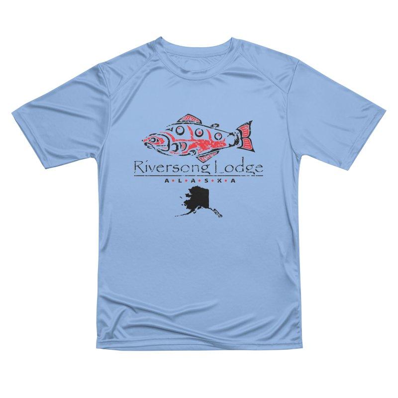 Riversong Lodge logo - black Women's T-Shirt by Boneyard Studio - Boneyard Fly Gear