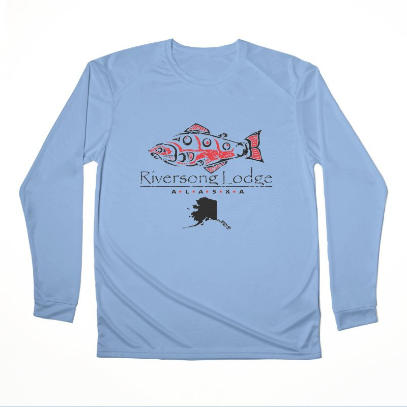 Riversong Lodge logo - black Women's Longsleeve T-Shirt by Boneyard Studio - Boneyard Fly Gear