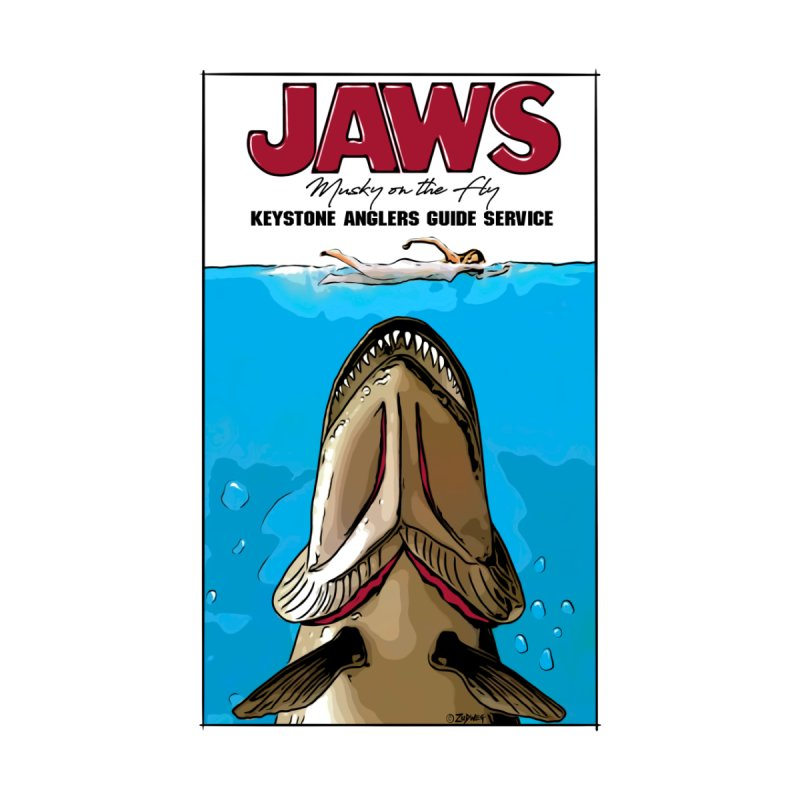 Jaws Musky Men's T-Shirt by Boneyard Studio - Boneyard Fly Gear