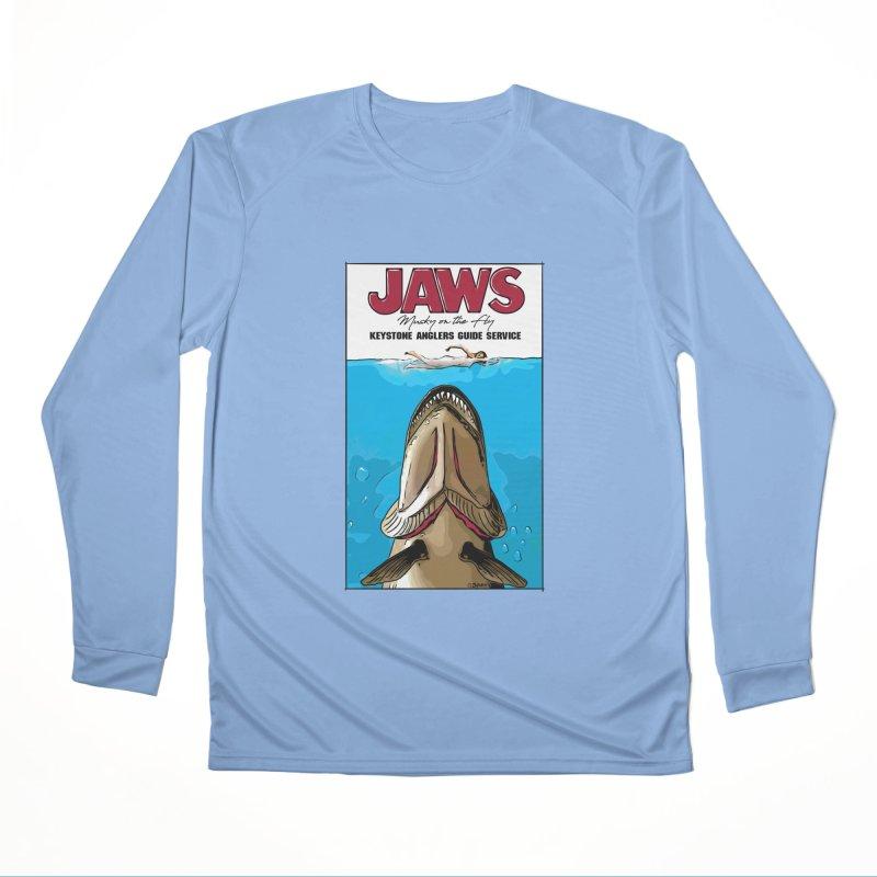 Jaws Musky Men's Longsleeve T-Shirt by Boneyard Studio - Boneyard Fly Gear