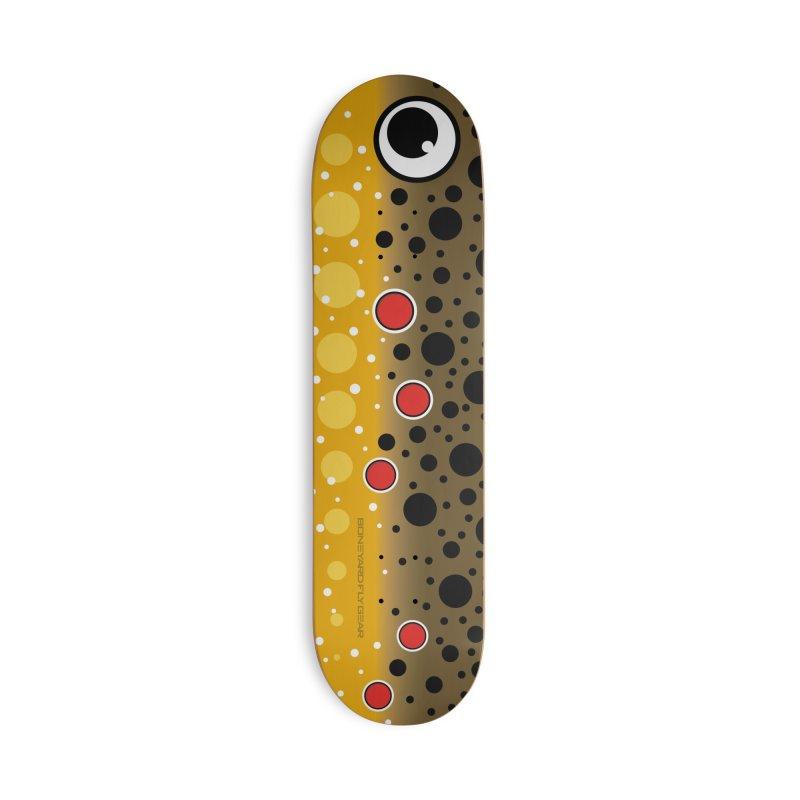 Brown Trout Skateboard Accessories Skateboard by Boneyard Studio - Boneyard Fly Gear