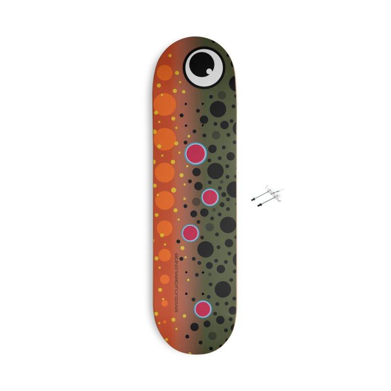 Brook Trout Skateboard Accessories Skateboard by Boneyard Studio - Boneyard Fly Gear
