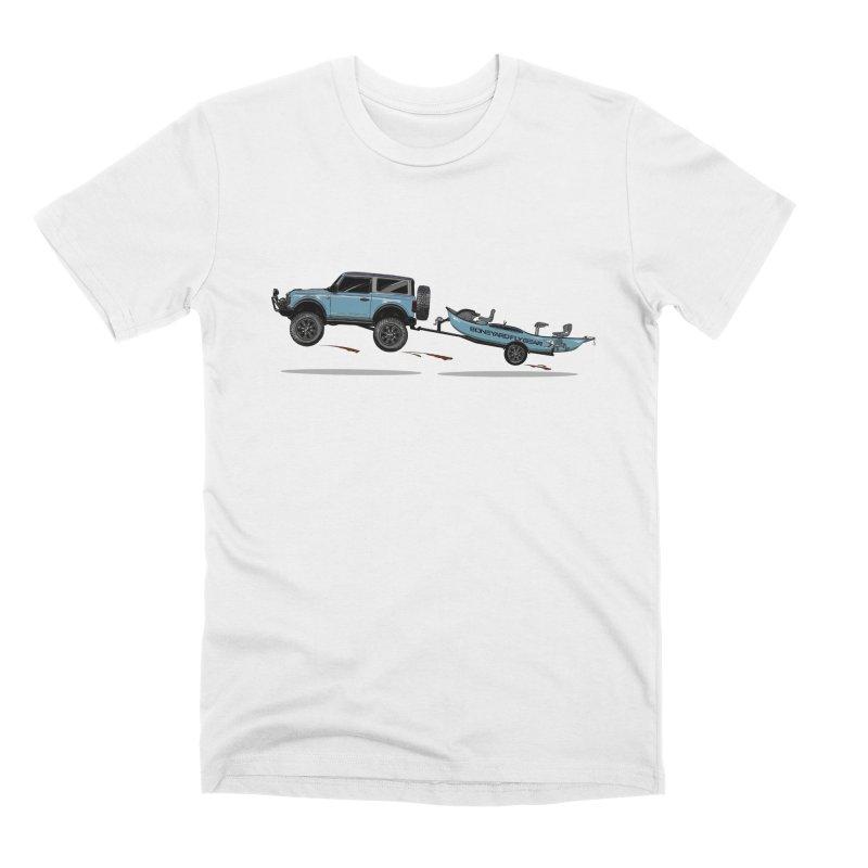 New Bronco and Driftboat Men's T-Shirt by Boneyard Studio - Boneyard Fly Gear