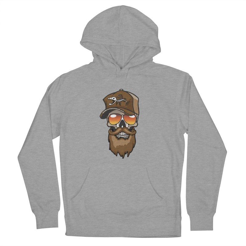 Bearded Trucker - 2017 in Men's Pullover Hoody Heather Graphite by Boneyard Studio - Boneyard Fly Gear