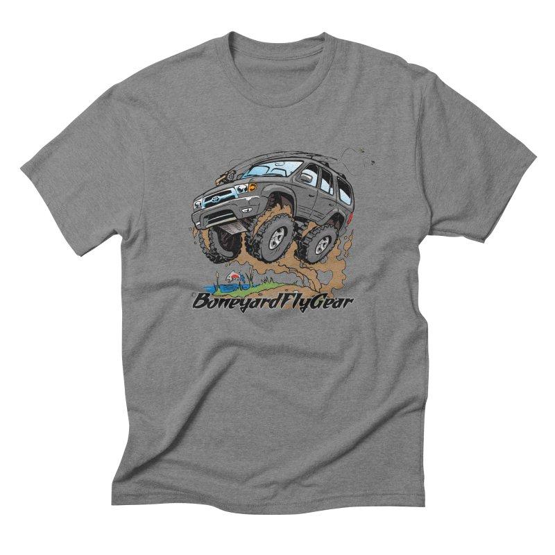 Runnin' to the Run in Men's Triblend T-shirt Grey Triblend by Boneyard Studio - Boneyard Fly Gear