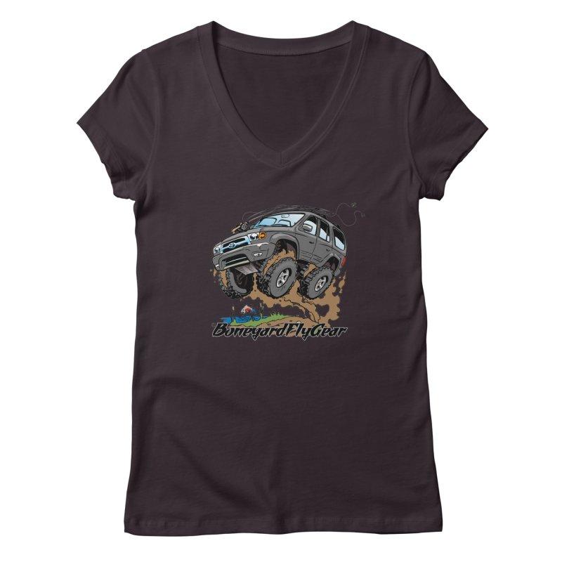 Runnin' to the Run Women's Regular V-Neck by Boneyard Studio - Boneyard Fly Gear