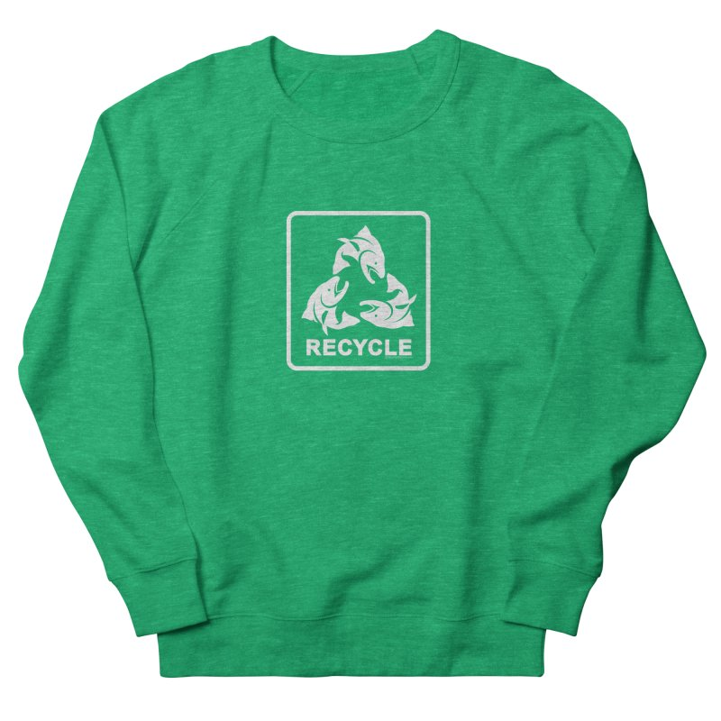 Our famous Recycle Tee is back! Women's French Terry Sweatshirt by Boneyard Studio - Boneyard Fly Gear