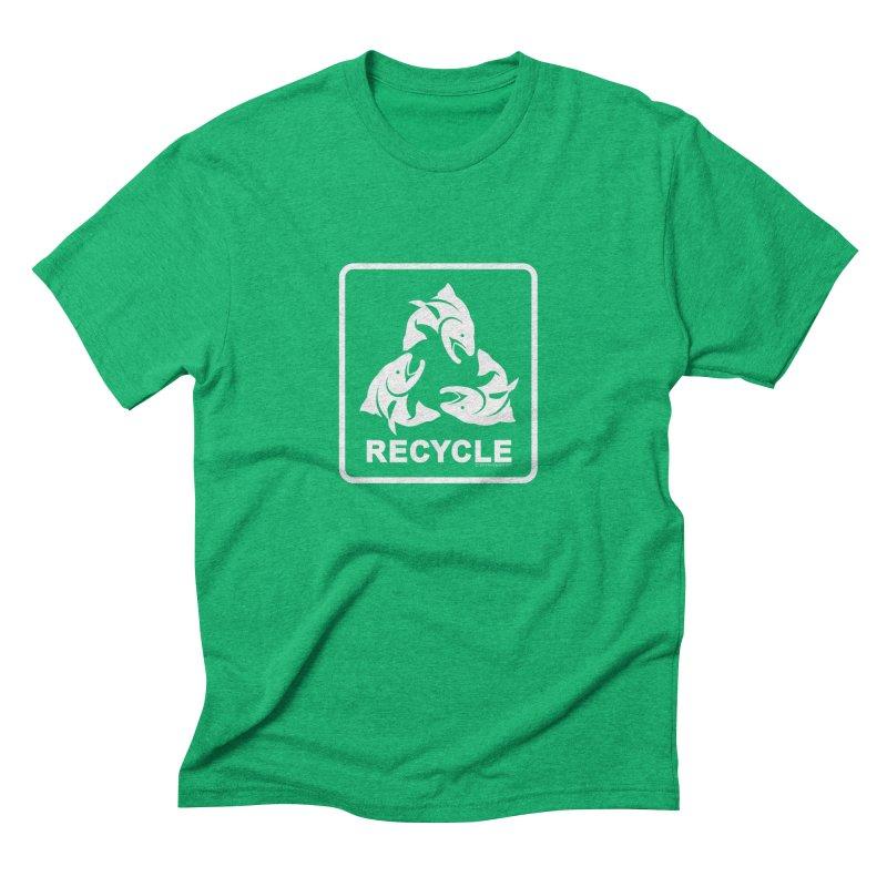 Our famous Recycle Tee is back! in Men's Triblend T-shirt Tri-Kelly by Boneyard Studio - Boneyard Fly Gear