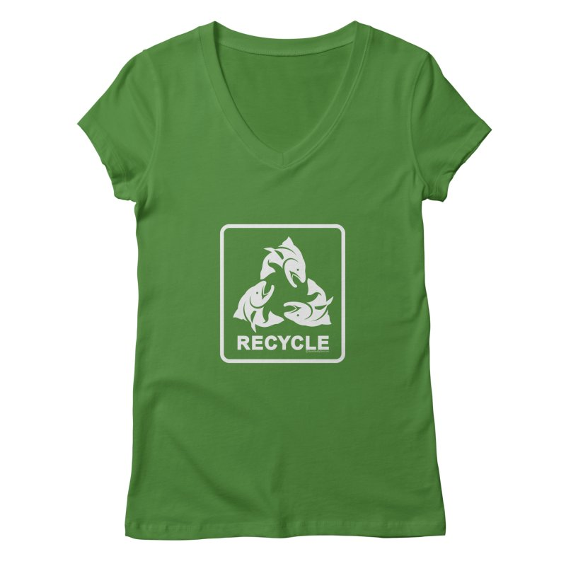 Our famous Recycle Tee is back! Women's V-Neck by Boneyard Studio - Boneyard Fly Gear