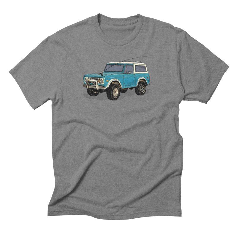 Early Bronco - fly fishing edition Men's T-Shirt by Boneyard Studio - Boneyard Fly Gear