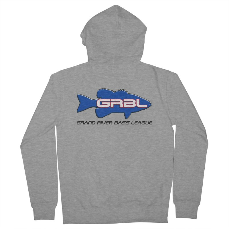 GR Bass League Logo - blue Men's Zip-Up Hoody by Boneyard Studio - Boneyard Fly Gear