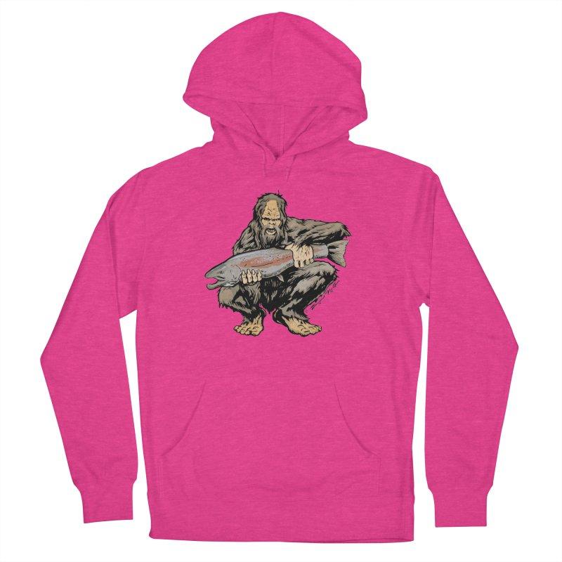 Sasquatch with Steelhead Women's Pullover Hoody by Boneyard Studio - Boneyard Fly Gear