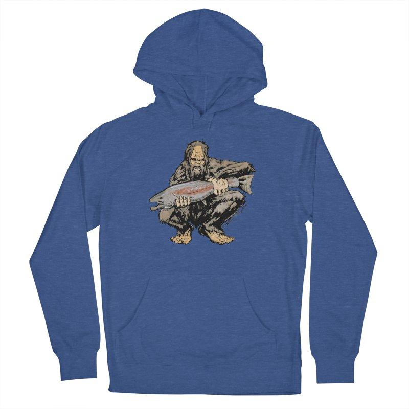 Sasquatch with Steelhead Men's Pullover Hoody by Boneyard Studio - Boneyard Fly Gear