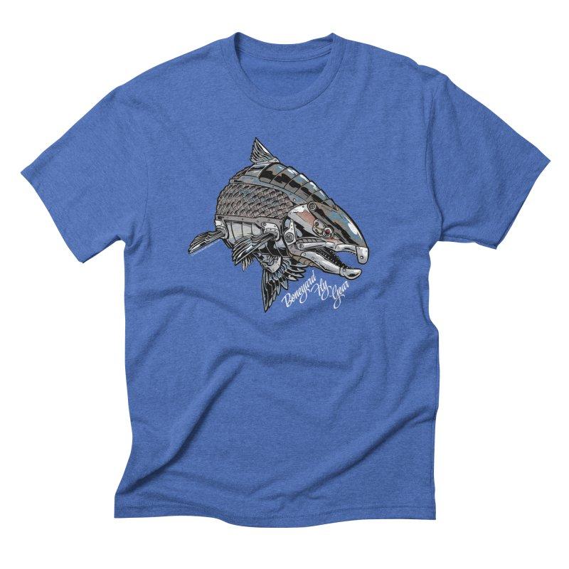 BYFG Terminator Steelhead in Men's Triblend T-shirt Blue Triblend by Boneyard Studio - Boneyard Fly Gear