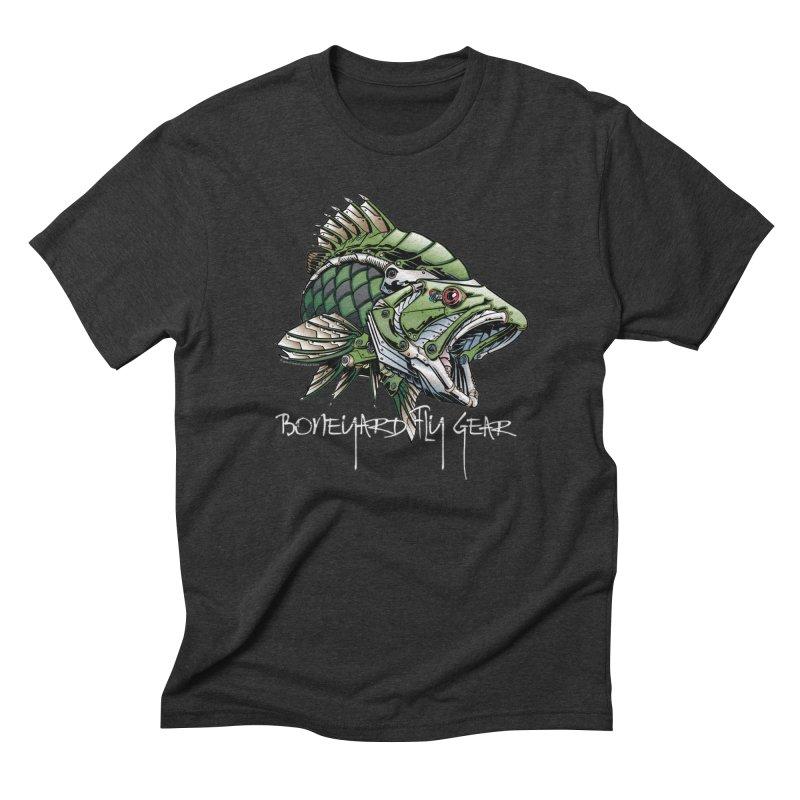 BYFG Terminator Bass in Men's Triblend T-shirt Heather Onyx by Boneyard Studio - Boneyard Fly Gear